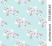 seamless pattern of small... | Shutterstock .eps vector #535188160
