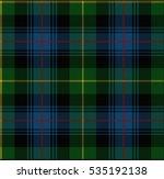 vector knitted plaid tartan... | Shutterstock .eps vector #535192138