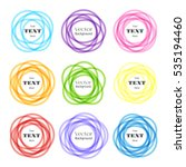 rounded shapes labels. vector... | Shutterstock .eps vector #535194460
