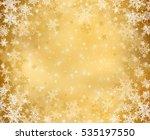 gold decorative christmas... | Shutterstock . vector #535197550