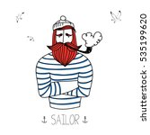 Sailor With A Pipe And Seagulls