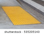 tactile paving with textured... | Shutterstock . vector #535205143