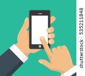 vector. hand holding smart...   Shutterstock .eps vector #535211848