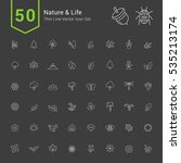 nature and life icon sets. 50... | Shutterstock .eps vector #535213174