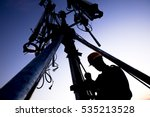 silhouette of technician... | Shutterstock . vector #535213528