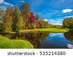 golf club  french canada. red ... | Shutterstock . vector #535214380