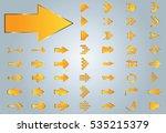 arrow vector yellow curve line... | Shutterstock .eps vector #535215379