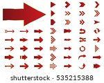 arrow vector red curve line up... | Shutterstock .eps vector #535215388