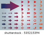 arrow vector purple curve line... | Shutterstock .eps vector #535215394
