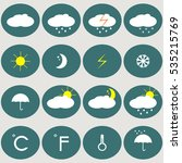 weather icons.forecast | Shutterstock .eps vector #535215769