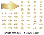 arrow vector gold curve line up ... | Shutterstock .eps vector #535216504