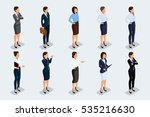 isometric set of elegant... | Shutterstock .eps vector #535216630