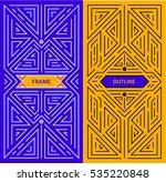 vector monogram design elements ... | Shutterstock .eps vector #535220848