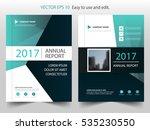 green vector annual report... | Shutterstock .eps vector #535230550