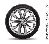 car tire radial wheel metal... | Shutterstock .eps vector #535232179