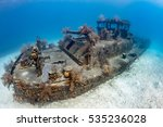 Old  Coral Encrusted Shipwreck...