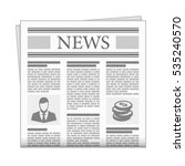 folded newspaper news in flat... | Shutterstock .eps vector #535240570
