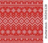 christmas knitting seamless... | Shutterstock .eps vector #535241128