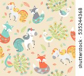 animal pattern | Shutterstock .eps vector #535244368