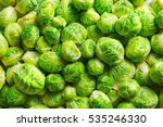 brussels sprouts background | Shutterstock . vector #535246330