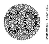 a color blindness test shaped... | Shutterstock .eps vector #535246513