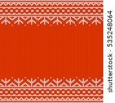 festive seamless horizontal... | Shutterstock .eps vector #535248064