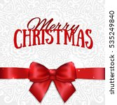 merry christmas and happy new... | Shutterstock . vector #535249840
