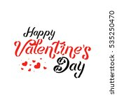 valentine logo elements for...   Shutterstock . vector #535250470