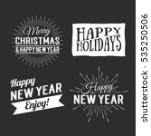 merry christmas and happy new... | Shutterstock . vector #535250506