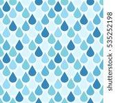 blue water drops seamless... | Shutterstock . vector #535252198
