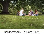 family generations picnic... | Shutterstock . vector #535252474