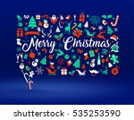 holiday card  speech bubble... | Shutterstock .eps vector #535253590