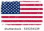 grunge usa flag.vector american ... | Shutterstock .eps vector #535254139