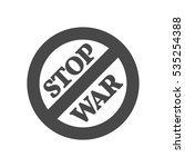stop war sign  concept icon....