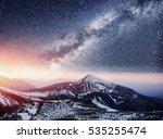 fantastic starry sky. beautiful ... | Shutterstock . vector #535255474