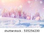 mysterious winter landscape... | Shutterstock . vector #535256230