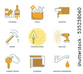 house repair and construction... | Shutterstock .eps vector #535258060