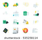 ecology and industry set of... | Shutterstock .eps vector #535258114