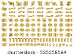 label ribbon banner gold vector ... | Shutterstock .eps vector #535258564