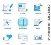 copywriting and writing icons... | Shutterstock .eps vector #535258660