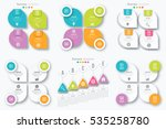 set with infographics. data and ... | Shutterstock .eps vector #535258780