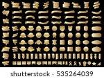 ribbon banner label gold vector ... | Shutterstock .eps vector #535264039