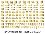ribbon banner label gold vector ... | Shutterstock .eps vector #535264120