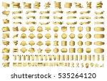 ribbon banner label gold vector ... | Shutterstock .eps vector #535264120