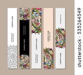 banners design  floral mandala | Shutterstock .eps vector #535264549