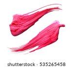 set of vector oil painting... | Shutterstock . vector #535265458