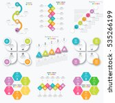 set with infographics. data and ... | Shutterstock .eps vector #535266199