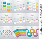 set with infographics. data and ... | Shutterstock .eps vector #535266400