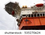 offshore oil rig drilling... | Shutterstock . vector #535270624