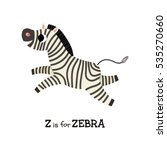 z letter tracing. zebra. cute... | Shutterstock .eps vector #535270660